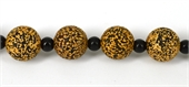 Tibetan Agate  19mm Round Bead-beads incl pearls-Beadthemup