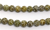 Jade dyed hand Carved Round 12mm EACH BEAD-jade-Beadthemup