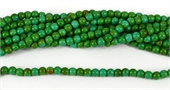 Howlite Dyed Round 6mm Green strand-beads incl pearls-Beadthemup