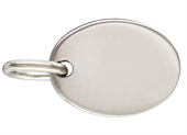 Sterling Silver Quality Tag oval 7.3x5.5 5 pack-connectors incl.links and bars-Beadthemup