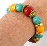 Whitsunday-Treasure Elastic Bracelet-bracelets, bracelet beads and bangles-Beadthemup