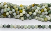 Jadeite Polished Round 10mm beads per strand 39-beads incl pearls-Beadthemup