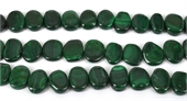 Malachite Natural Polished flat oval 18x15mm EACH-gemstone beads-Beadthemup