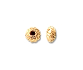 14k Gold filled bead Rondel Twist 6mm 4 pack-14k gold filled-Beadthemup