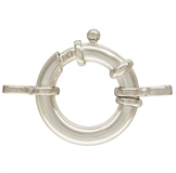 Sterling Silver Clasp bolt fine tube 16x3mm-clasps, toggles and extension chain-Beadthemup