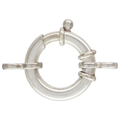 Sterling Silver Clasp bolt fine tube 19x3.5mm-clasps, toggles and extension chain-Beadthemup