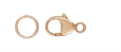 14k ROSE Gold Filled clasp with ring 2 pack-clasps, toggles and extension chain-Beadthemup