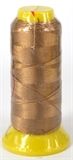 Caramel Polyester knotting thread 4 size-polyester knotting thread-Beadthemup