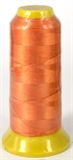 Orange Polyester knotting thread 4 sizes-stringing-Beadthemup