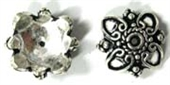 Sterling Silver Cap 20mm for 12mm bead 2 pack-caps and cones-Beadthemup
