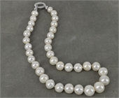 45cm Sterling Silver  & Fresh Water Edison 10-16mm Pearl nec-jewellery-Beadthemup