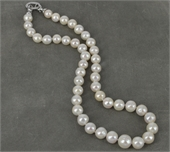 45cm Sterling Silver  & Fresh Water Edison 8-11mm Pearl neck-jewellery-Beadthemup