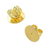 9ct Yellow Gold heavy Earring back Pair-gold-Beadthemup