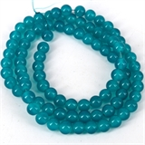 Glass bead strand 80cm long 10mm Teal-glass beads-Beadthemup