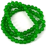 Glass bead strand 80cm long 10mm Emerald-glass beads-Beadthemup