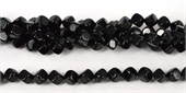 Onyx Polished Side drill cube 8mm beads per strand 38Beads-onyx-Beadthemup