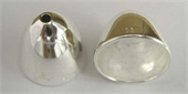Sterling Silver Cone 13x11mm bell shape 2 pack-caps and cones-Beadthemup