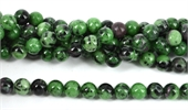 Ruby Zoisite Polished Round 10mm beads per strand 39-ruby zoisite-Beadthemup