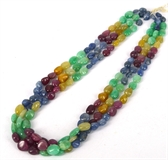 Emerald, Ruby, Sapphire Pol Oval 10x7mm strand-emerald-Beadthemup