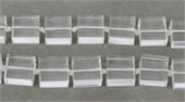 Clear Quartz Square 14x14x7mm EACH-clear quartz-Beadthemup