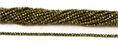 Pyrite Faceted  Round 2mm beads per strand 182-pyrite-Beadthemup
