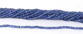 Tanzanite Faceted Rondel 3x2mm strand-tanzanite-Beadthemup
