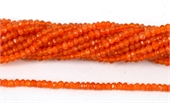 Carnelian Faceted Rondel  4x3mm strand 33.5cm long-gemstone beads-Beadthemup