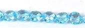 Blue Topaz Faceted Coin 14mm EACH-blue topaz-Beadthemup