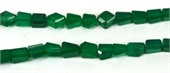 Green Onyx Faceted Nugget app 10x6mm EACH-onyx-Beadthemup