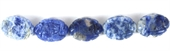 Sodalite Carved Oval 13x18mm EACH-gemstone beads-Beadthemup