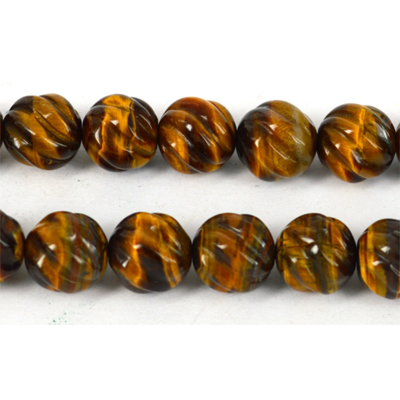 Tigers Eye Carved Round 12mm EACH