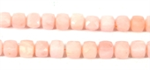 Pink Opal Faceted Cube app.6mm EACH-gemstone beads-Beadthemup