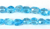 Blue Topaz Faceted Nugget app 18x12mm EACH-blue topaz-Beadthemup