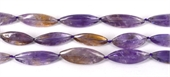 Ameterine Polished 3 sided olive app 29mm EACH bead-ametrine-Beadthemup