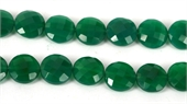 Green Onyx Faceted Coin 14mm EACH-onyx-Beadthemup