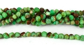 Chrysophase Polished s/drill cube Approx 8mm strand 67 beads-chrysophase-Beadthemup
