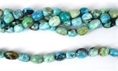 Blue Opal Africa Polished Nugget app 12x16mm strand 24 beads-gemstone beads-Beadthemup