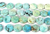 Blue Opal Africa flat round 30mm EACH-gemstone beads-Beadthemup