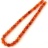 Carnelian 8mm Faceted 8 sided Round strand-gemstone beads-Beadthemup