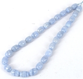 Blue Lace Agate Polished Barrel 10x15mm beads per strand 2-blue lace agate-Beadthemup