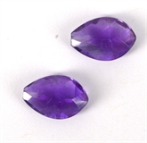 Amethyst A Faceted Briolette 10x15mm Pair-briolette shape-Beadthemup