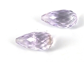 Amethyst A- Faceted Briolette 10x20mm Pair-briolette shape-Beadthemup