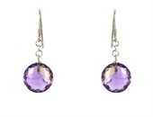 Ameterine Sterling Silver Faceted Earring stone 12m-earrings-Beadthemup