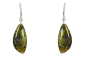 Labradorite Sterling Silver Polished Earring stone 1-earrings-Beadthemup
