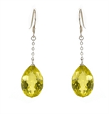 Lemon quartz Quartz Sterling Silver Faceted Earring-jewellery-Beadthemup