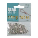 Silver plate Base Crimp 2.5x2.5mm approx 250 pack-crimps and wire guardians-Beadthemup