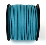 Faux Suede 3mm Blue Teal per M-stringing-Beadthemup