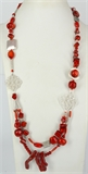 Whitsunday 90cm Red Coral Magic necklace Kit-bead inspired projects-Beadthemup