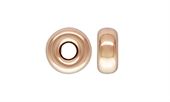 14k ROSE Gold Filled bead Rondel 3mm 5 pack-findings-Beadthemup