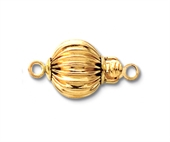 14k Gold Filled clasp 10mm Corrugated EACH-14k gold filled-Beadthemup